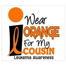 I Wear Orange For My Cousin 9 Leukemia Wall Art Canvas Art