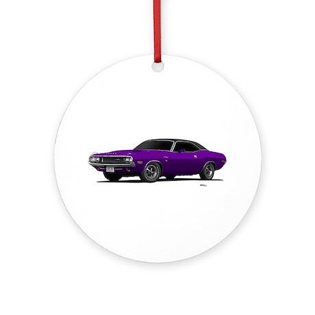 1970 Challenger Plum Crazy Ornament (Round)