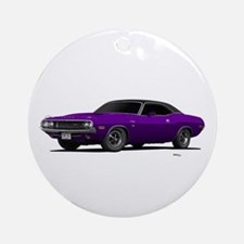 1970 Challenger Plum Crazy Ornament (Round)