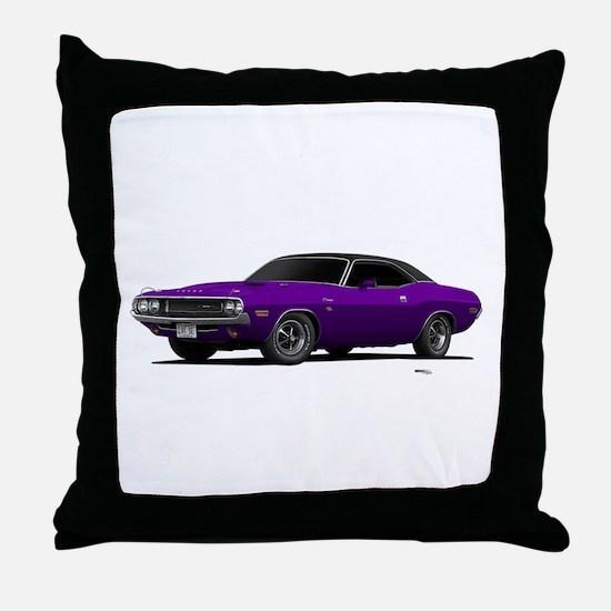 1970 Challenger Plum Crazy Throw Pillow