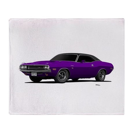 1970 Challenger Plum Crazy Throw Blanket
