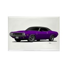 1970 Challenger Plum Crazy Rectangle Magnet