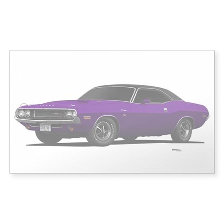 1970 Challenger Plum Crazy Sticker (Rectangle 10 p