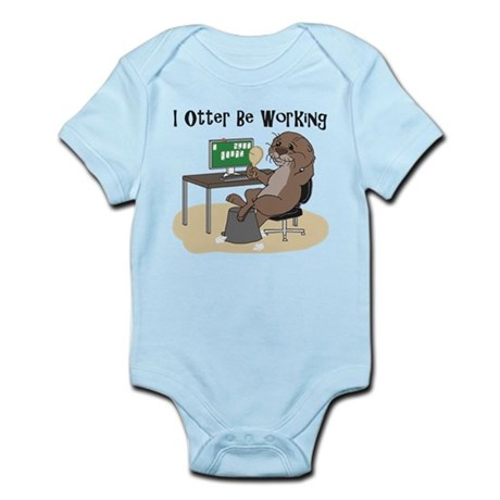 I Otter Be Working Body Suit