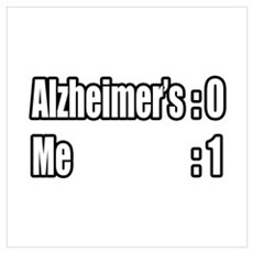 """I'm Beating Alzheimer's"" Wall Art Poster"