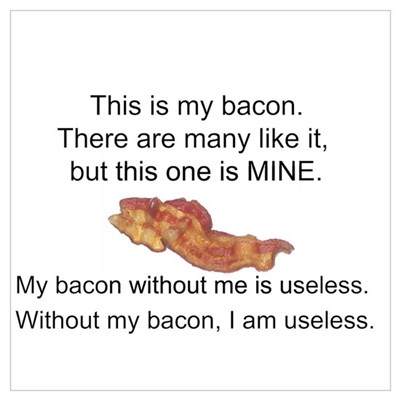 This bacon is MINE Wall Art Canvas Art