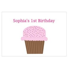 Sophia - 1st First Birthday C Wall Art Poster