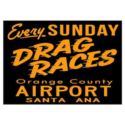 Drag Races Wall Art Poster