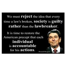 Reagan Quote - Individual Accountable Wall Art Poster