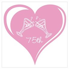 75th Wedding Anniversary Wall Art Poster