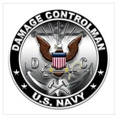 USN Damage Controlman Eagle D Wall Art Poster