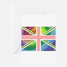 Rainbow Union Jack Flag Greeting Card