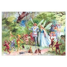 THE MARRIAGE OF THUMBELINA Wall Art