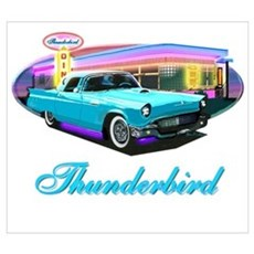 2002 - 05 Ford Thunderbird Classic Cars Canvas Art