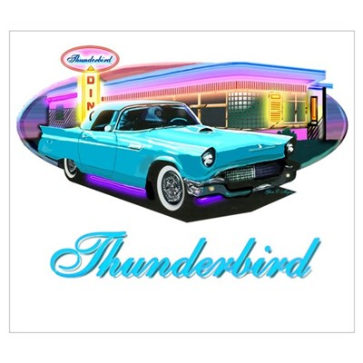 2002 - 05 Ford Thunderbird Classic Cars Poster