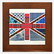 Tartan and other patterns uni Framed Tile