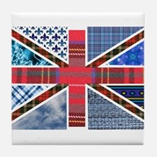 Tartan and other patterns uni Tile Coaster