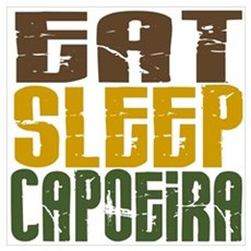 Eat Sleep Capoeira Wall Art Poster