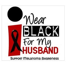 I Wear Black For My Husband 9 Wall Art Poster