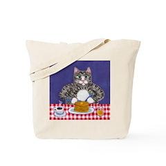 Cat and Pancakes Tote Bag
