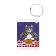 Cat and Pancakes Keychains