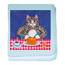 Cat and Pancakes baby blanket