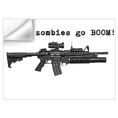 Make zombies go BOOM! Wall Art Wall Decal