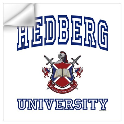 HEDBERG University Wall Art Wall Decal