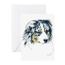 Australian Shepherd Greeting Cards(6)