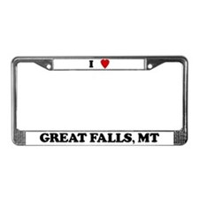 I Love Great Falls License Plate Frame