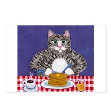 Cat and Pancakes Postcards (Package of 8)
