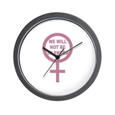 We Will Not be Silenced Wall Clock