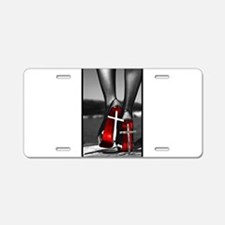 Red High Heels Aluminum License Plate