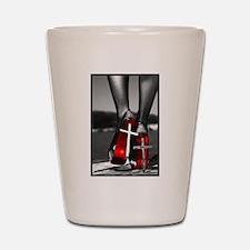 Red High Heels Shot Glass