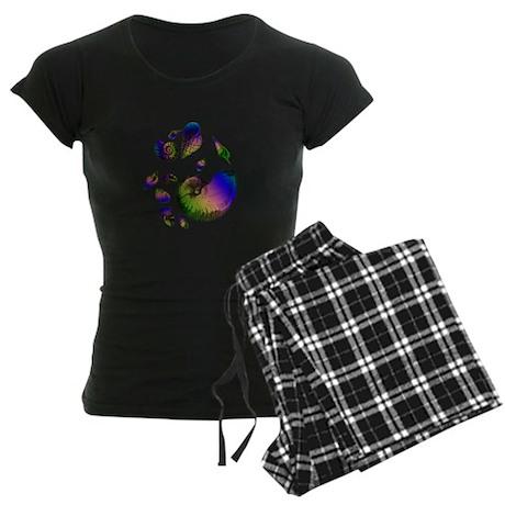 Seashells Women's Dark Pajamas