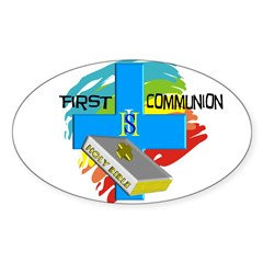 First Holy Communion Sticker (Oval 10 pk)