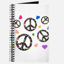 Peace signs and hearts patter Journal