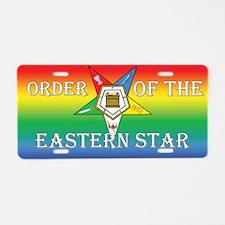 OES Rainbow Aluminum License Plate