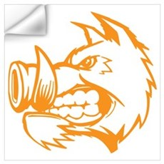 Orange Boar. Wall Art Wall Decal