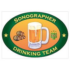 Sonographer Team Wall Art Poster
