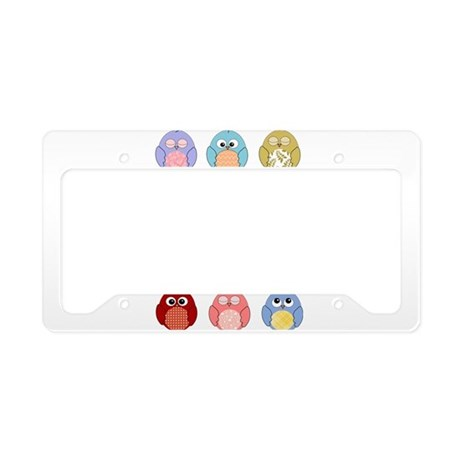 Cute Owls License Plate Holder