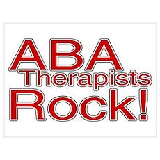 ABA Therapists Rock! Wall Art Poster