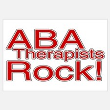 ABA Therapists Rock! Wall Art