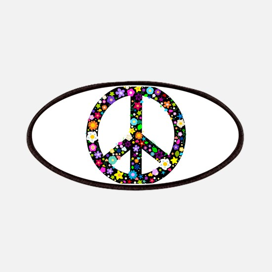 Hippie Flowery Peace Sign Patches