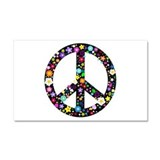 "Hippie flowery peace sign 20x12 12"" x 20"""