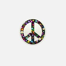 Hippie Flowery Peace Sign Mini Button (100 pack)