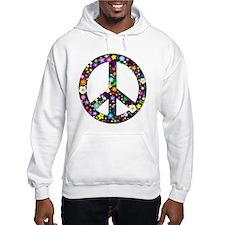 Hippie Flowery Peace Sign Hoodie