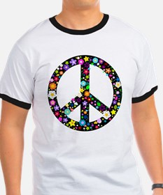 Hippie Flowery Peace Sign T