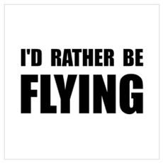 Rather Be Flying Wall Art Framed Print
