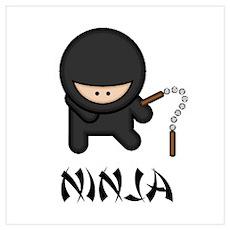 Ninja Nunchuck Wall Art Poster
